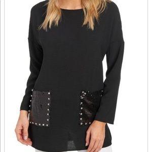 Coco Bianco Sequin Pocket Tunic